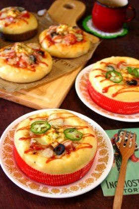 ふんわりピザパン☆キッシュ仕立て