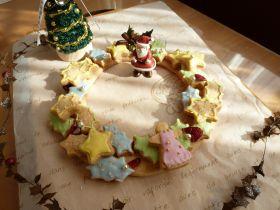 クリスマスリースクッキー