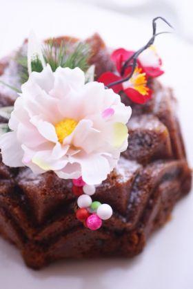 干し柿のシナモンバターケーキ