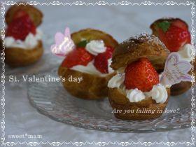 【バレンタイン】チーズクリーム*シュー