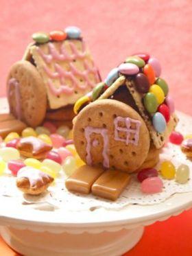 明治のお菓子で小さなお菓子のお家