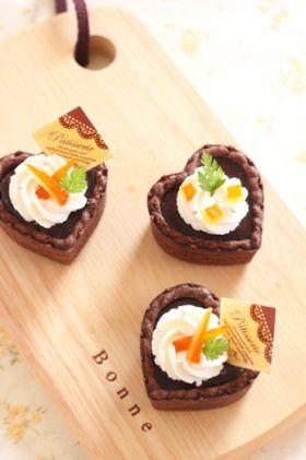 オレンジピールの生チョコタルト