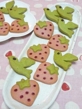 いちごクッキー&小鳥のクッキー
