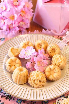 桜餡でしっとりプチマドレーヌ☆