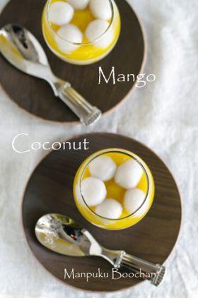 ●マンゴー&ココナッツミルクプリン