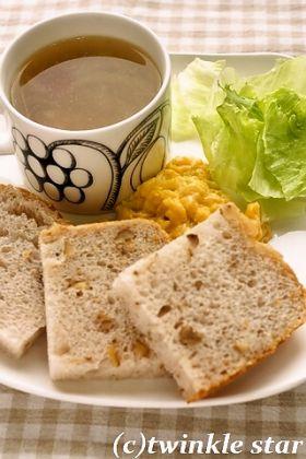 【HB】ホシノで塩麹と甘酒の胡桃パン