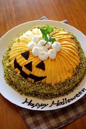 ハロウィンかぼちゃのドームケーキ