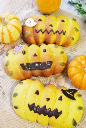 【ハロウィン】お絵かきかぼちゃパン