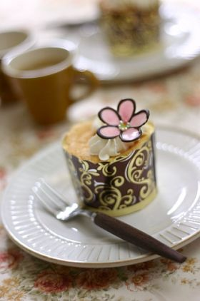 立体チョコプレート【花】