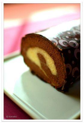 【バレンタイン】チョコバナナロールケーキ
