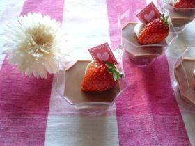 濃厚なチョコミントのプリン
