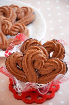 【バレンタイン】絞り出しチョコクッキー