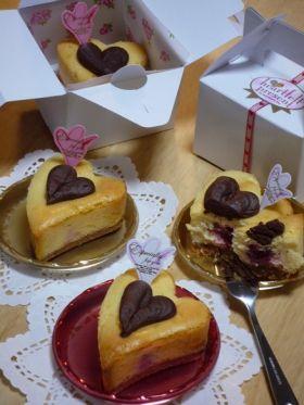 バレンタイン チーズ ケーキ バレンタインのケーキのレシピ・作り方...