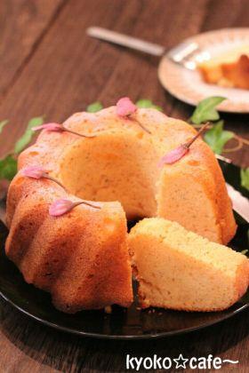 桜のバターケーキ