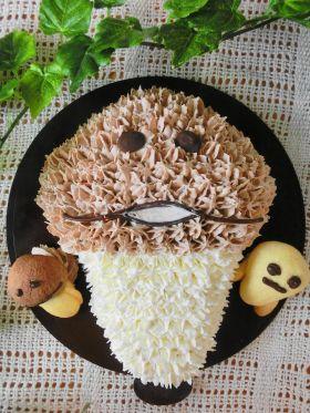 んふんふ♪立体なめこケーキ