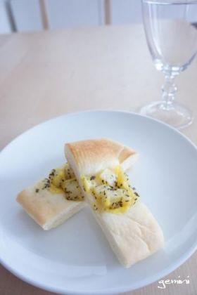 バジルマヨポテトのカナッペパン