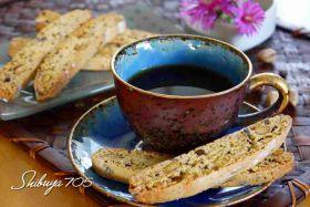 コーヒー豆とピスタチオビスコッティの燻製