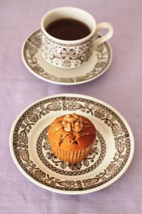 【クルミ】コーヒーとクルミのカップケーキ