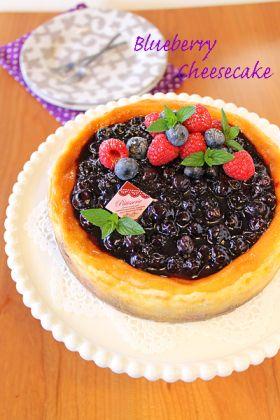 ブルーベリーベイクドチーズケーキ