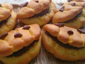 【ハロウィン】かぼちゃのおばけパン