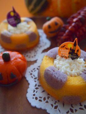 【ハロウィン】ハロウィンのモザイクケーク