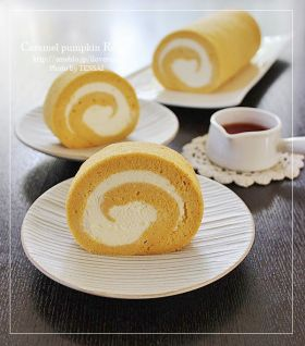 カラメルかぼちゃnoロールケーキ