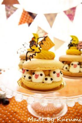 【ハロウィン】かぼちゃのマカロンケーキ