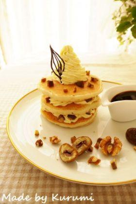 マロン*アフォガードのパンケーキ