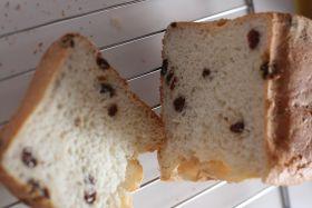 レーズン入り豆乳食パン