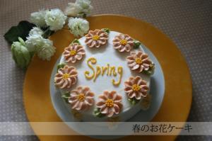 春のお花ケーキ