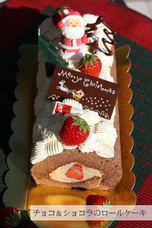 チョコ&ショコラのロールケーキ