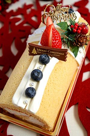 メープルロールケーキ クリスマス仕立て