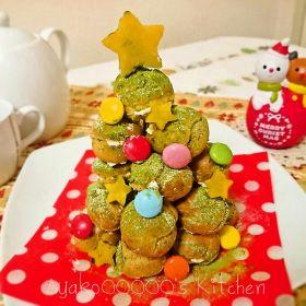 【クリスマス】抹茶クロカンブッシュツリー