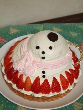 【クリスマス】雪だるまなクリスマスタルト