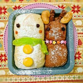 【クリスマス】スノーマン&トナカイパン