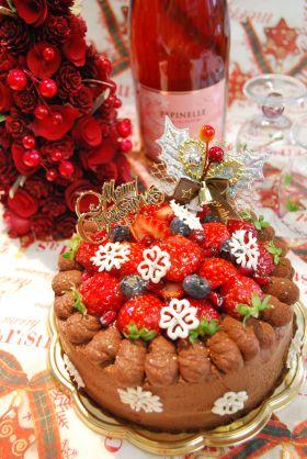 【クリスマス】濃厚ふんわりショコラケーキ