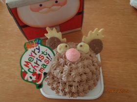 クリスマス 赤鼻のトナカイケーキ