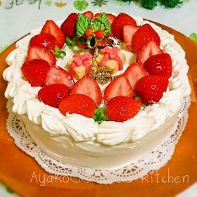 【クリスマス】ストロベリーリースケーキ