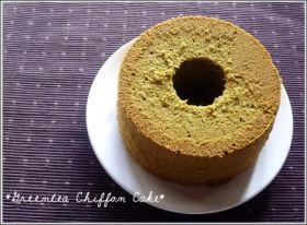 濃厚♪抹茶の米粉シフォンケーキ