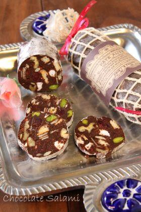 【バレンタイン】簡単濃厚チョコレートサラミ