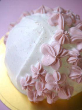 桜咲く。・*さくらのドームケーキ