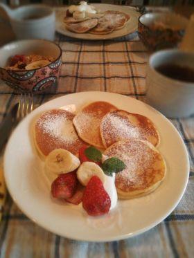 モチモチ〜♪米粉のパンケーキ