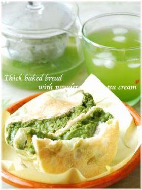 厚焼き抹茶クリームパン