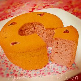 【春のお菓子】桜シフォンケーキ