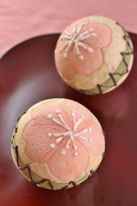 【春のお菓子】花てまりパン