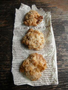 卵不使用!くるみとコーンフレークのクッキー
