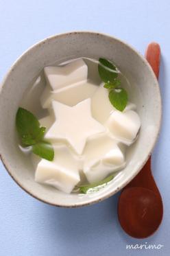 簡単★型抜き用★杏仁豆腐