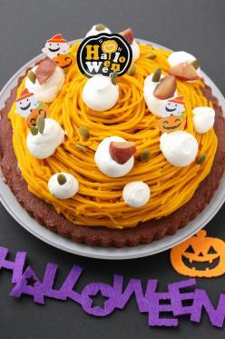 ハロウィンに★かぼちゃのモンブランケーキ