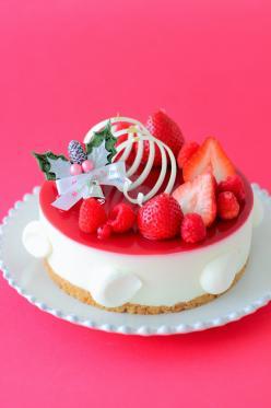 クリスマスレアチーズケーキ