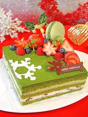 マスカルポーネと抹茶のクリスマスケーキ